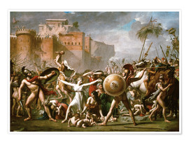 Premium poster  The Sabine Women - Jacques-Louis David