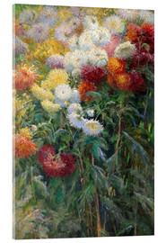 Acrylic print  Chrysanthemums - Gustave Caillebotte