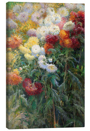 Canvas print  Chrysanthemums - Gustave Caillebotte