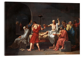 Acrylic print  The Death of Socrates - Jacques-Louis David