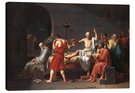 Canvas  The Death of Socrates - Jacques-Louis David