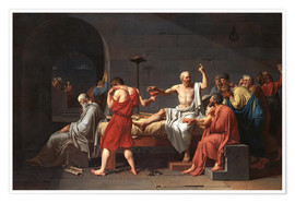 Premium poster The Death of Socrates