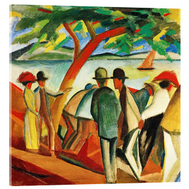 Acrylic print  Stroller on the lake - August Macke