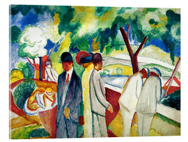 Acrylic print  People Strolling - August Macke