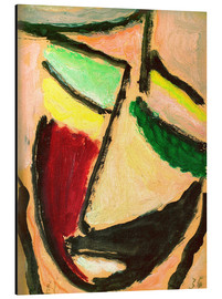Aluminium print  Small abstract head - Alexej von Jawlensky