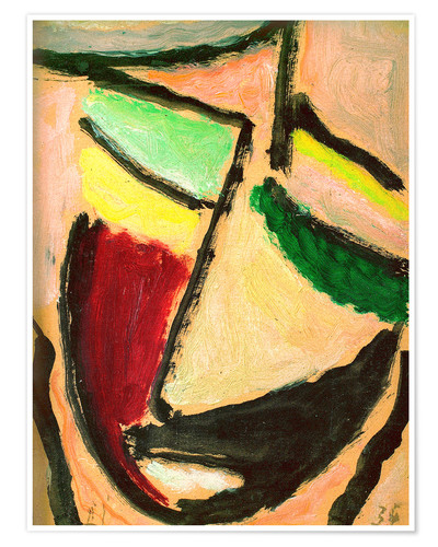 Premium poster Small abstract head