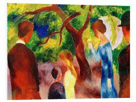 Foam board print  Great Promenade: People in the Garden - August Macke