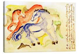 Canvas print  Red and Blue Horses - Franz Marc