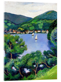 Acrylic print  View of Tegernsee lake - August Macke