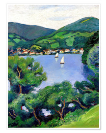 Premium poster View of Tegernsee lake