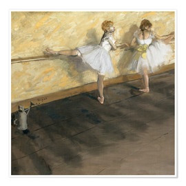 Poster  Dancers at the ballet bar - Edgar Degas