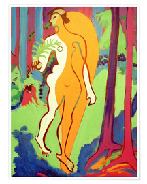 Premium poster Nude in Orange and Yellow