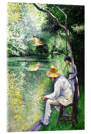 Acrylic print  Angler - Gustave Caillebotte