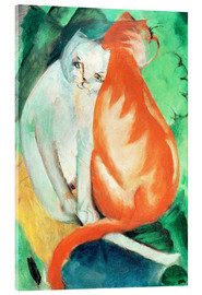 Acrylic print  Cats, red and white - Franz Marc