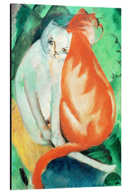 Aluminium print  Cats, red and white - Franz Marc