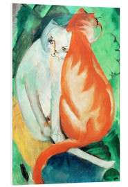 Franz Marc - Cats, red and white