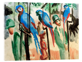 Acrylic print  Among the parrots - August Macke