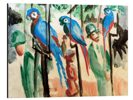 Aluminium print  Among the parrots - August Macke