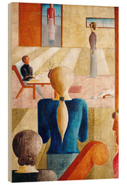 Wood print  Womens School - Oskar Schlemmer