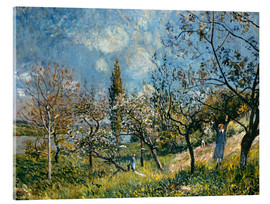 Acrylic glass  Fruit Garden in Spring - Alfred Sisley