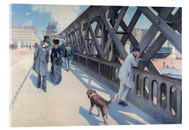 Acrylic print  On the Europabrücke - Gustave Caillebotte