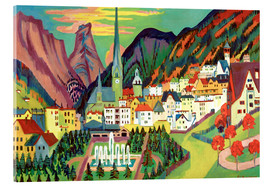 Acrylic print  Davos in the summer - Ernst Ludwig Kirchner