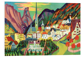 Foam board print  Davos in the summer - Ernst Ludwig Kirchner