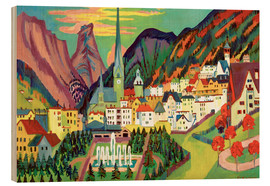 Wood print  Davos in the summer - Ernst Ludwig Kirchner