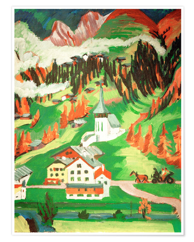 Premium poster Frauenkirch in the autumn
