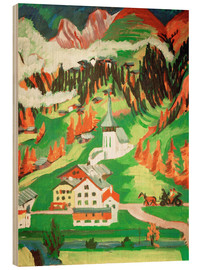 Wood print  Frauenkirch in the autumn - Ernst Ludwig Kirchner