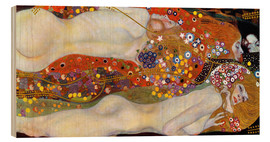 Wood print  Water serpents II - Gustav Klimt