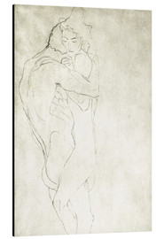 Alu-Dibond  Lovers, lying to the right - Gustav Klimt