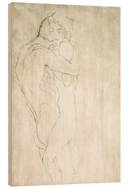 Wood  Lovers, lying to the right - Gustav Klimt