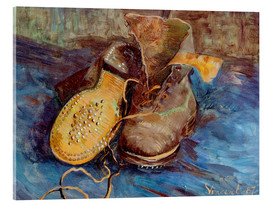 Acrylic glass  The Shoes - Vincent van Gogh