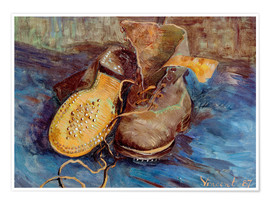 Premium poster  The Shoes - Vincent van Gogh