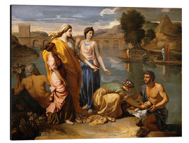Aluminium print  Discovery of the Moses baby - Nicolas Poussin