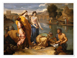 Poster  Discovery of the Moses baby - Nicolas Poussin