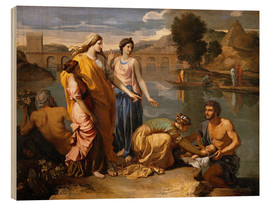 Wood  Discovery of the Moses baby - Nicolas Poussin