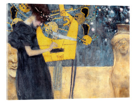 Acrylic glass  The Music - Gustav Klimt