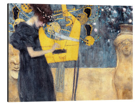 Aluminium print  The music - Gustav Klimt