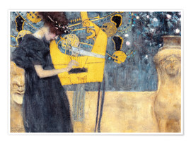Premium poster  The music - Gustav Klimt