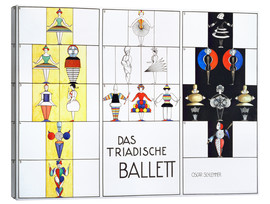 Canvas print  Das triadische Ballett (German) - Oskar Schlemmer