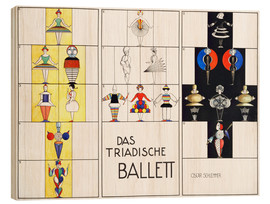 Wood print  Das triadische Ballett (German) - Oskar Schlemmer