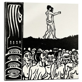 Acrylic print  In front of the people - Ernst Ludwig Kirchner