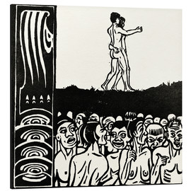 Aluminium print  In front of the people - Ernst Ludwig Kirchner
