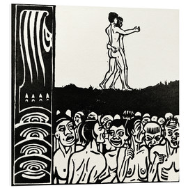 Foam board print  In front of the people - Ernst Ludwig Kirchner
