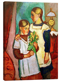 Canvas  Two Sisters - August Macke