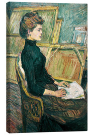 Canvas print  Young woman in the studio - Henri de Toulouse-Lautrec