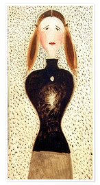 Premium poster  Figure from the front - Oskar Schlemmer