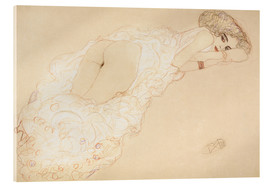 Acrylic print  Lying on her stomach - Gustav Klimt